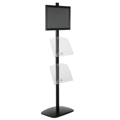 free-standing-stand-in-black-color-with-1-x-11X17-frame-in-portrait-and-landscape-and-2-x-8.5x11-clear-shelf-in-acrylic-single-sided-6