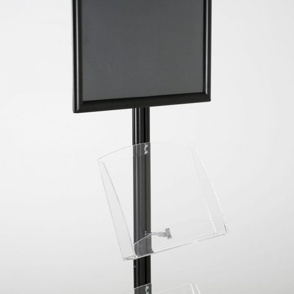 free-standing-stand-in-black-color-with-1-x-11X17-frame-in-portrait-and-landscape-and-2-x-8.5x11-clear-shelf-in-acrylic-single-sided-8