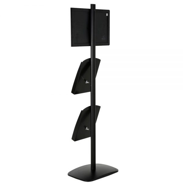 free-standing-stand-in-black-color-with-1-x-11X17-frame-in-portrait-and-landscape-and-2-x-8.5x11-steel-shelf-single-sided-14