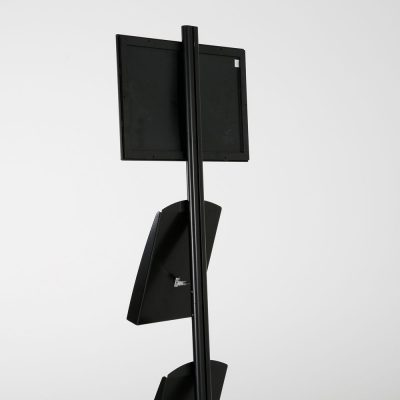 free-standing-stand-in-black-color-with-1-x-11X17-frame-in-portrait-and-landscape-and-2-x-8.5x11-steel-shelf-single-sided-15