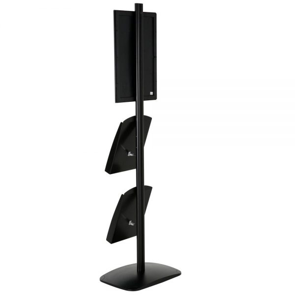 free-standing-stand-in-black-color-with-1-x-11X17-frame-in-portrait-and-landscape-and-2-x-8.5x11-steel-shelf-single-sided-8