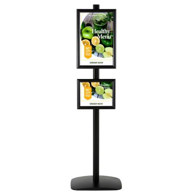 free-standing-stand-in-black-color-with-1-x-11x17-frame-and-1-x-8.5x11-frame-in-portrait-and-landscape-position-single-sided-4