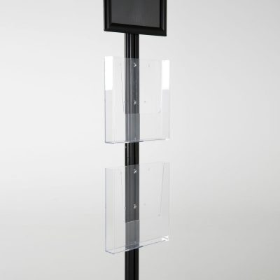 free-standing-stand-in-black-color-with-1-x-8.5X11-frame-in-portrait-and-landscape-and-2-x-8.5x11-clear-pocket-shelf-single-sided-11