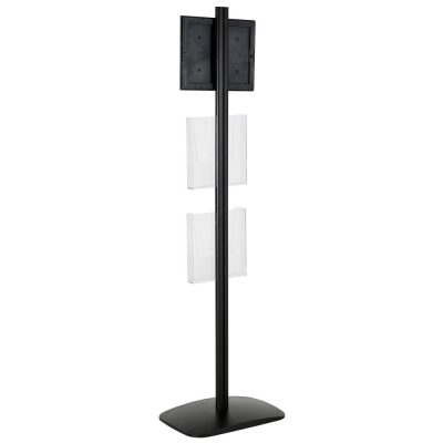 free-standing-stand-in-black-color-with-1-x-8.5X11-frame-in-portrait-and-landscape-and-2-x-8.5x11-clear-pocket-shelf-single-sided-15