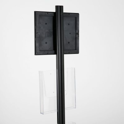 free-standing-stand-in-black-color-with-1-x-8.5X11-frame-in-portrait-and-landscape-and-2-x-8.5x11-clear-pocket-shelf-single-sided-16