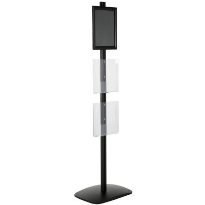 free-standing-stand-in-black-color-with-1-x-8.5X11-frame-in-portrait-and-landscape-and-2-x-8.5x11-clear-pocket-shelf-single-sided-6