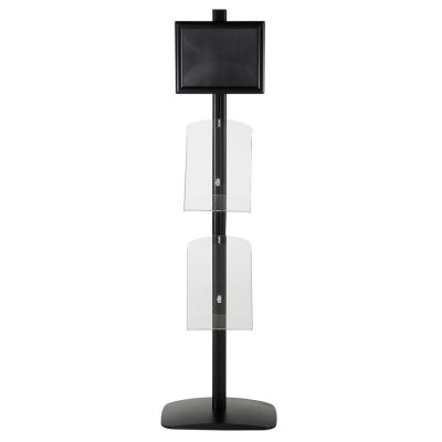 free-standing-stand-in-black-color-with-1-x-8.5X11-frame-in-portrait-and-landscape-and-2-x-8.5x11-clear-shelf-in-acrylic-single-sided-10