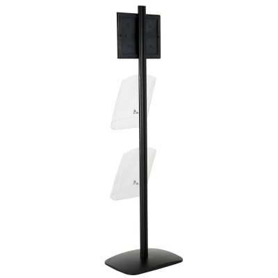 free-standing-stand-in-black-color-with-1-x-8.5X11-frame-in-portrait-and-landscape-and-2-x-8.5x11-clear-shelf-in-acrylic-single-sided-12