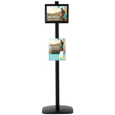With 1 x (8.5x11) Frame In Portrait And Landscape And 1 x (8.5x11) Clear Pocket Shelf