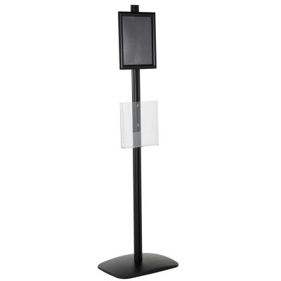 free-standing-stand-in-black-color-with-1-x-8.5x11-frame-in-portrait-and-landscape-and-1-x-8.5x11-clear-pocket-shelf-single-sided-5