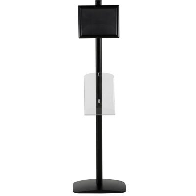 free-standing-stand-in-black-color-with-1-x-8.5x11-frame-in-portrait-and-landscape-and-1-x-8.5x11-clear-shelf-in-acrylic-single-sided-12