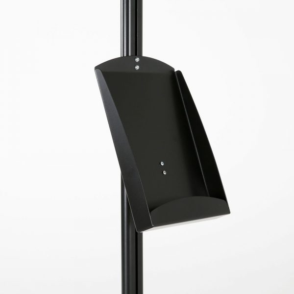 free-standing-stand-in-black-color-with-1-x-8.5x11-frame-in-portrait-and-landscape-and-1-x-8.5x11-steel-shelf-single-sided-11