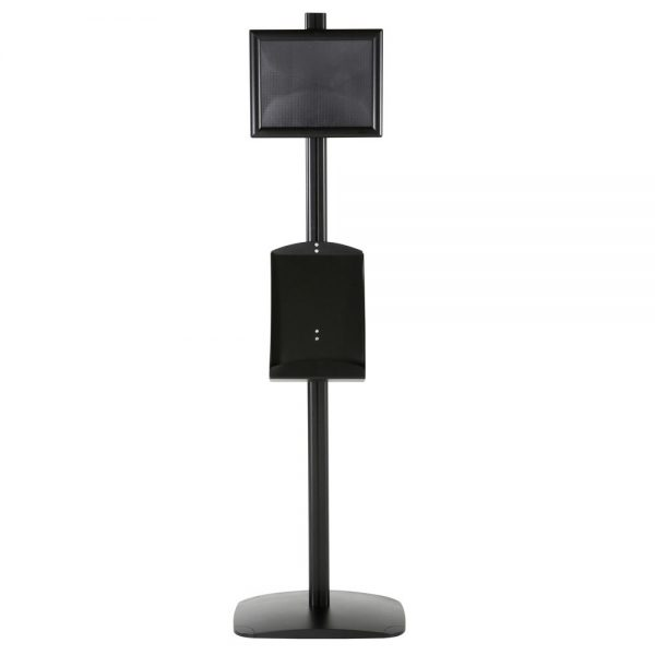 free-standing-stand-in-black-color-with-1-x-8.5x11-frame-in-portrait-and-landscape-and-1-x-8.5x11-steel-shelf-single-sided-14