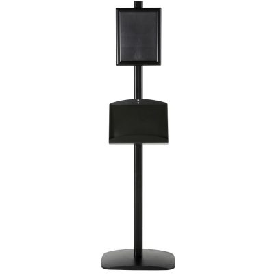 free-standing-stand-in-black-color-with-1-x-8.5x11-frame-in-portrait-and-landscape-and-2-x-5.5x8.5-steel-shelf-single-sided-11