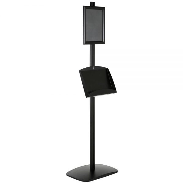 free-standing-stand-in-black-color-with-1-x-8.5x11-frame-in-portrait-and-landscape-and-2-x-5.5x8.5-steel-shelf-single-sided-12