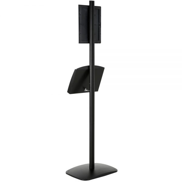 free-standing-stand-in-black-color-with-1-x-8.5x11-frame-in-portrait-and-landscape-and-2-x-5.5x8.5-steel-shelf-single-sided-13
