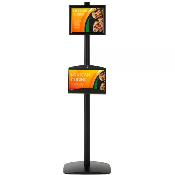 free-standing-stand-in-black-color-with-1-x-8.5x11-frame-in-portrait-and-landscape-and-2-x-5.5x8.5-steel-shelf-single-sided-4