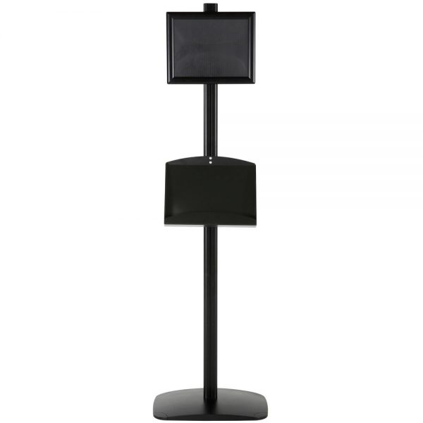free-standing-stand-in-black-color-with-1-x-8.5x11-frame-in-portrait-and-landscape-and-2-x-5.5x8.5-steel-shelf-single-sided-5