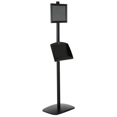 free-standing-stand-in-black-color-with-1-x-8.5x11-frame-in-portrait-and-landscape-and-2-x-5.5x8.5-steel-shelf-single-sided-6