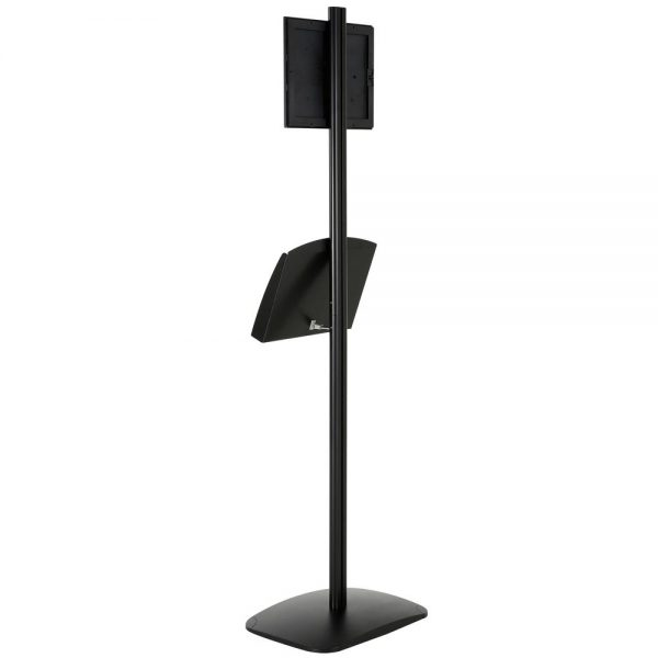 free-standing-stand-in-black-color-with-1-x-8.5x11-frame-in-portrait-and-landscape-and-2-x-5.5x8.5-steel-shelf-single-sided-7