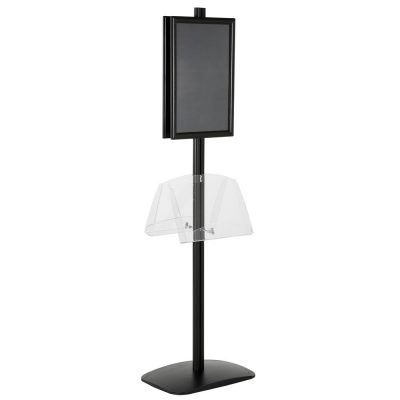 free-standing-stand-in-black-color-with-2-x-11X17-frame-in-portrait-and-landscape-and-2-2-x-8.5x11-clear-shelf-in-acrylic-double-sided-11