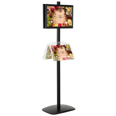 free-standing-stand-in-black-color-with-2-x-11X17-frame-in-portrait-and-landscape-and-2-2-x-8.5x11-clear-shelf-in-acrylic-double-sided-4