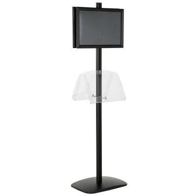 free-standing-stand-in-black-color-with-2-x-11X17-frame-in-portrait-and-landscape-and-2-2-x-8.5x11-clear-shelf-in-acrylic-double-sided-6