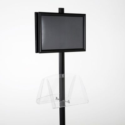 free-standing-stand-in-black-color-with-2-x-11X17-frame-in-portrait-and-landscape-and-2-2-x-8.5x11-clear-shelf-in-acrylic-double-sided-7