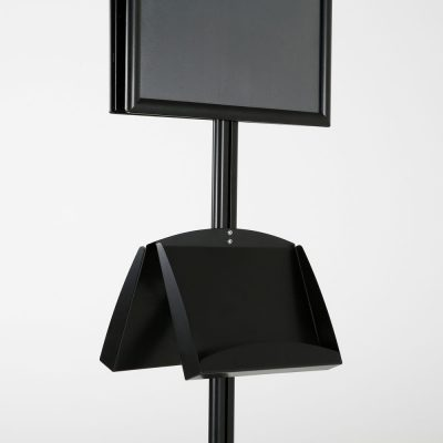 free-standing-stand-in-black-color-with-2-x-11X17-frame-in-portrait-and-landscape-and-2-x-5.5x8.5-steel-shelf-double-sided-11