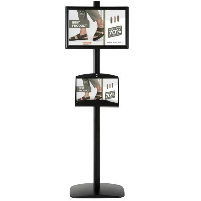 With 2 x (11X17) Frame In Portrait And Landscape And (2)  2 x (5.5x8.5) Steel Shelf