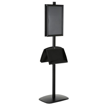 free-standing-stand-in-black-color-with-2-x-11X17-frame-in-portrait-and-landscape-and-2-x-5.5x8.5-steel-shelf-double-sided-6