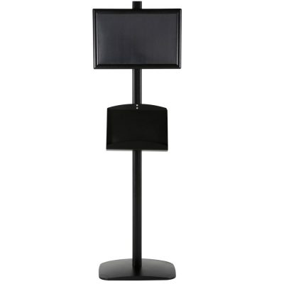 free-standing-stand-in-black-color-with-2-x-11X17-frame-in-portrait-and-landscape-and-2-x-5.5x8.5-steel-shelf-double-sided-8