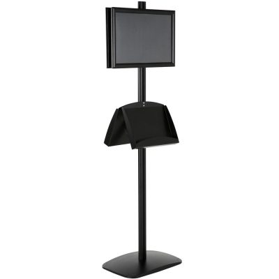 free-standing-stand-in-black-color-with-2-x-11X17-frame-in-portrait-and-landscape-and-2-x-5.5x8.5-steel-shelf-double-sided-9