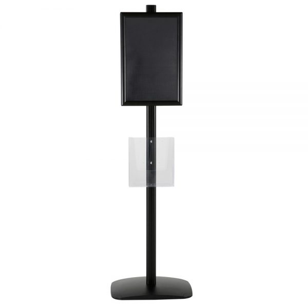 free-standing-stand-in-black-color-with-2-x-11X17-frame-in-portrait-and-landscape-and-2-x-8.5x11-clear-pocket-shelf-double-sided-11