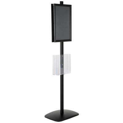 free-standing-stand-in-black-color-with-2-x-11X17-frame-in-portrait-and-landscape-and-2-x-8.5x11-clear-pocket-shelf-double-sided-12