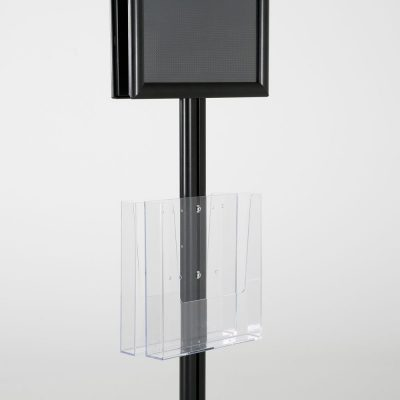 free-standing-stand-in-black-color-with-2-x-11X17-frame-in-portrait-and-landscape-and-2-x-8.5x11-clear-pocket-shelf-double-sided-13