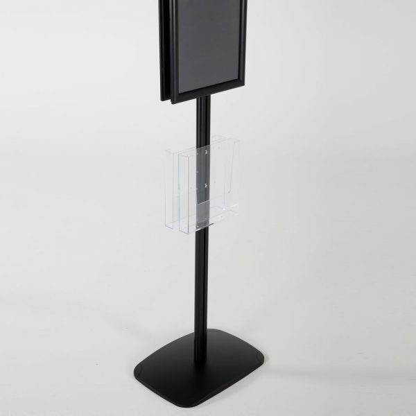 free-standing-stand-in-black-color-with-2-x-11X17-frame-in-portrait-and-landscape-and-2-x-8.5x11-clear-pocket-shelf-double-sided-15