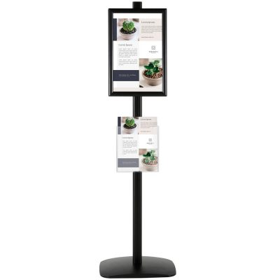 With 2 x (11X17) Frame In Portrait And Landscape And 2 x (8.5x11) Clear Pocket Shelf