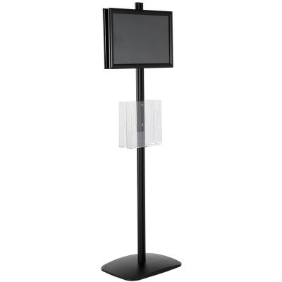 free-standing-stand-in-black-color-with-2-x-11X17-frame-in-portrait-and-landscape-and-2-x-8.5x11-clear-pocket-shelf-double-sided-5