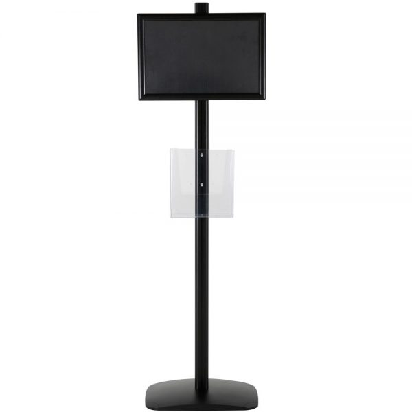 free-standing-stand-in-black-color-with-2-x-11X17-frame-in-portrait-and-landscape-and-2-x-8.5x11-clear-pocket-shelf-double-sided-6