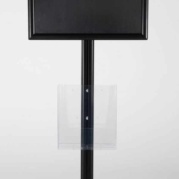 free-standing-stand-in-black-color-with-2-x-11X17-frame-in-portrait-and-landscape-and-2-x-8.5x11-clear-pocket-shelf-double-sided-7