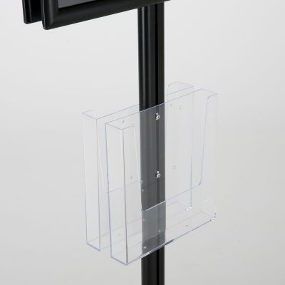 free-standing-stand-in-black-color-with-2-x-11X17-frame-in-portrait-and-landscape-and-2-x-8.5x11-clear-pocket-shelf-double-sided-8