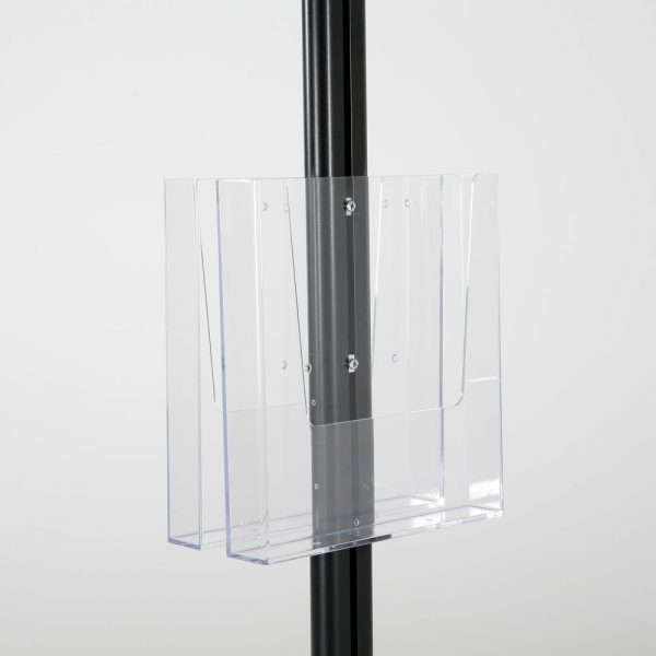 free-standing-stand-in-black-color-with-2-x-11X17-frame-in-portrait-and-landscape-and-2-x-8.5x11-clear-pocket-shelf-double-sided-9