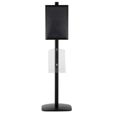 free-standing-stand-in-black-color-with-2-x-11X17-frame-in-portrait-and-landscape-and-2-x-8.5x11-clear-shelf-in-acrylic-double-sided-11
