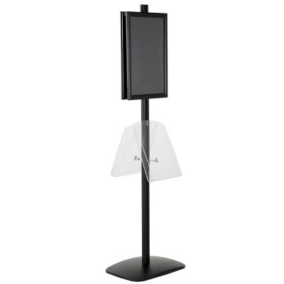free-standing-stand-in-black-color-with-2-x-11X17-frame-in-portrait-and-landscape-and-2-x-8.5x11-clear-shelf-in-acrylic-double-sided-12