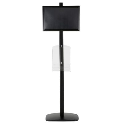 free-standing-stand-in-black-color-with-2-x-11X17-frame-in-portrait-and-landscape-and-2-x-8.5x11-clear-shelf-in-acrylic-double-sided-5