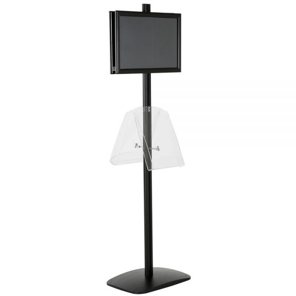 free-standing-stand-in-black-color-with-2-x-11X17-frame-in-portrait-and-landscape-and-2-x-8.5x11-clear-shelf-in-acrylic-double-sided-7