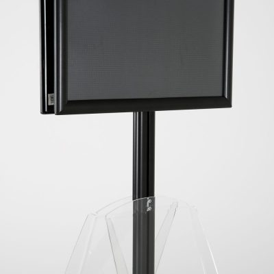 free-standing-stand-in-black-color-with-2-x-11X17-frame-in-portrait-and-landscape-and-2-x-8.5x11-clear-shelf-in-acrylic-double-sided-9