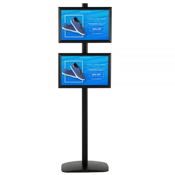 free-standing-stand-in-black-color-with-2-x-11x17-frame-in-portrait-and-landscape-position-single-sided-4