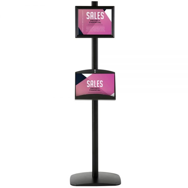 With 2 x (8.5x11) Frame In Portrait And Landscape And (2) 2 x (5.5x8.5) Steel Shelf